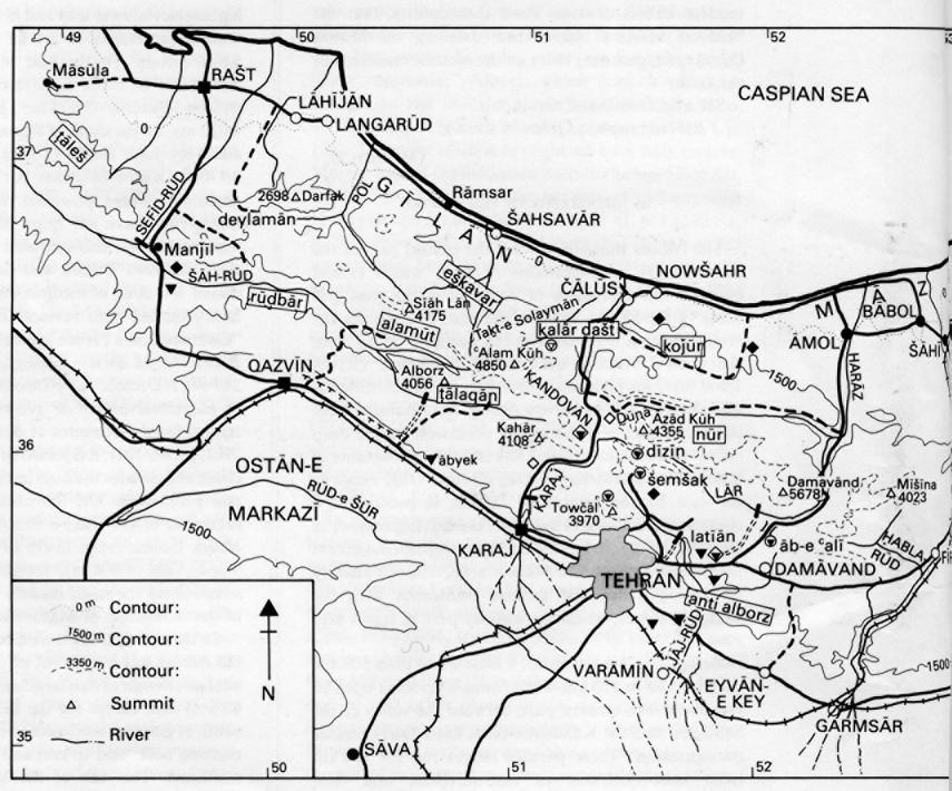 alborz iii geography � encyclopaedia iranica