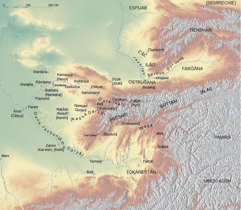 SOGDIANA ii Historical Geography Encyclopaedia Iranica