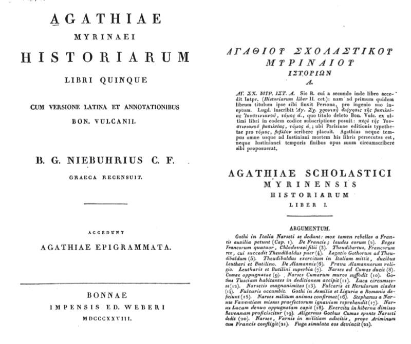Agathias histories online dating
