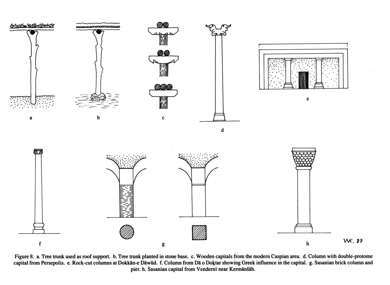 Columns encyclopaedia iranica or turf figure 8a pooptronica