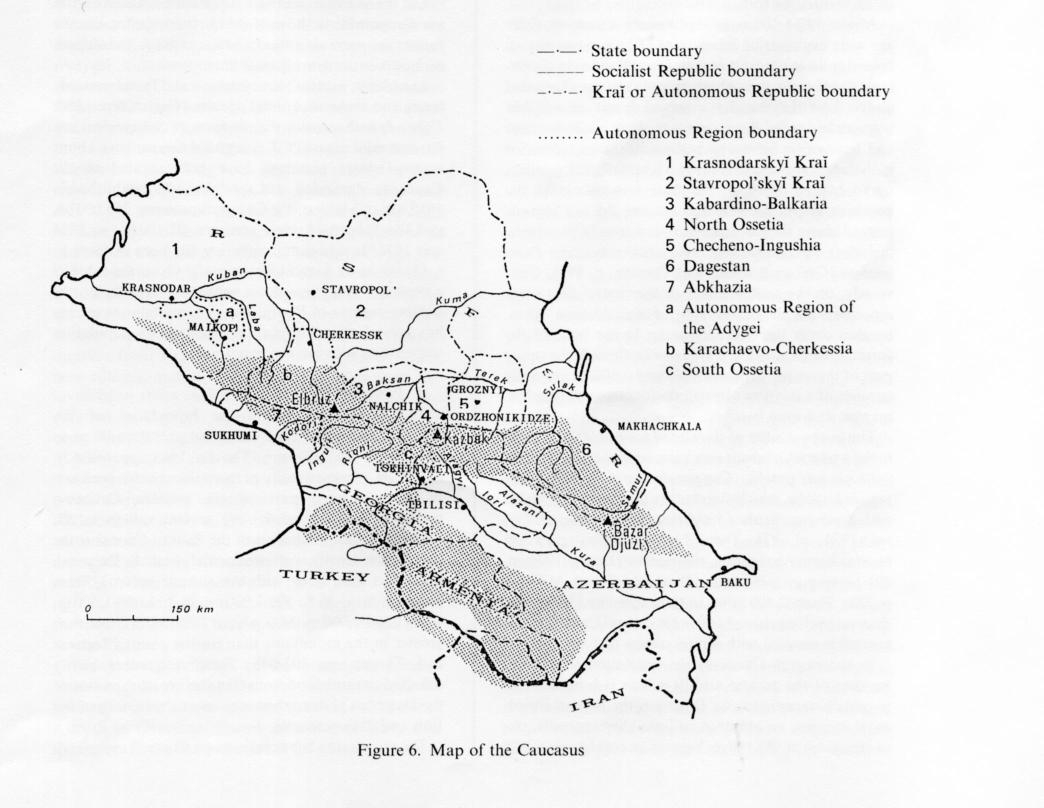 CAUCASUS I Physical Geography Population Encyclopaedia Iranica - Abkhazia map caucasus mountains