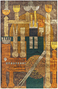 Untitled 1962, watercolor on paper, 77 15/16 × 51 3/16 in. (198 × 130 cm). Collection of Houman M. Sarshar, New York